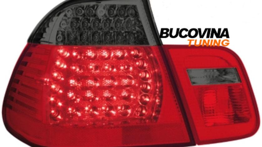 STOPURI LED BMW 3er E46 LIMOUSINE 01-04 – FUNDAL ROSU-FUMURIU