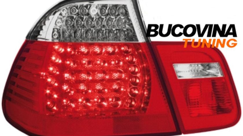 STOPURI LED BMW 3er E46 LIMOUSINE 01-04 – FUNDAL ROSU-CRISTAL