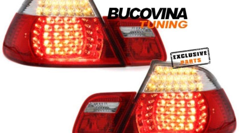 STOPURI LED BMW 3er E46 LIMOUSINE (98-01) – FUNDAL ROSU-CRISTAL