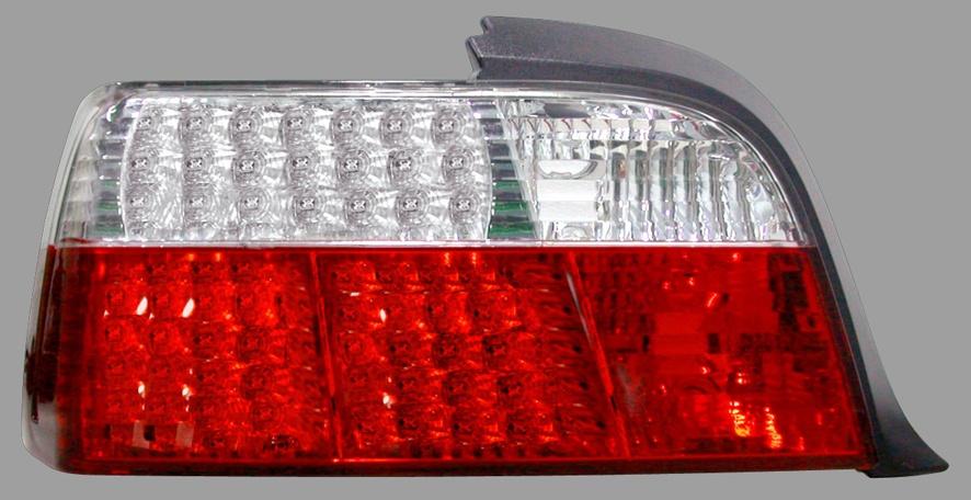 STOPURI LED BMW E36 COUPE FUNDAL ROSU/CROM -COD FKRLXLBM305