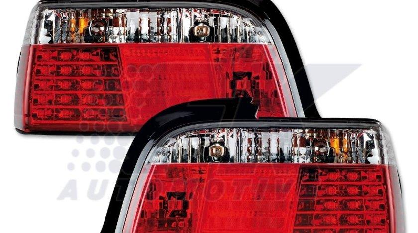 STOPURI LED BMW E36/LIM FUNDAL ROSU/CROM -COD FKRLXLBM8031