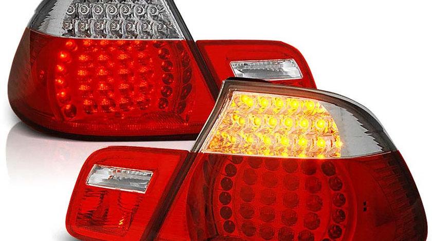 Stopuri LED BMW E46 Seria 3 Limousine Rosu Cristal