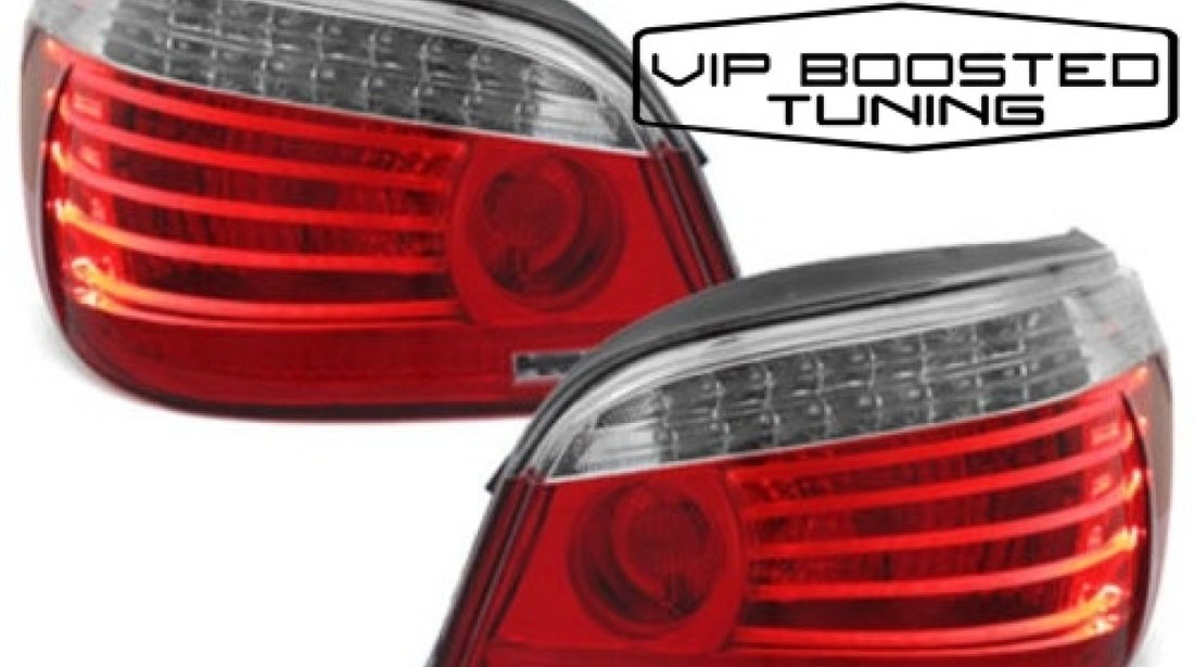 Stopuri LED BMW E60 2003~2007 Rosu/Clar DEPO LCI Facelift look