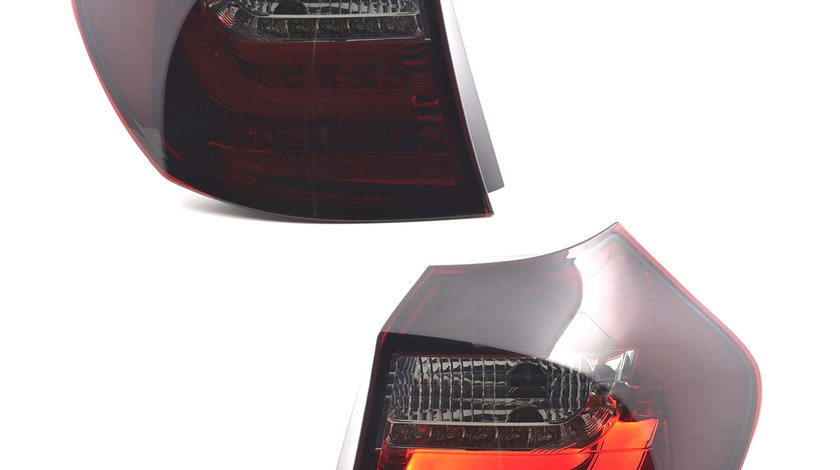 Stopuri LED BMW E81 E87 Seria 1 Rosu Fumuriu