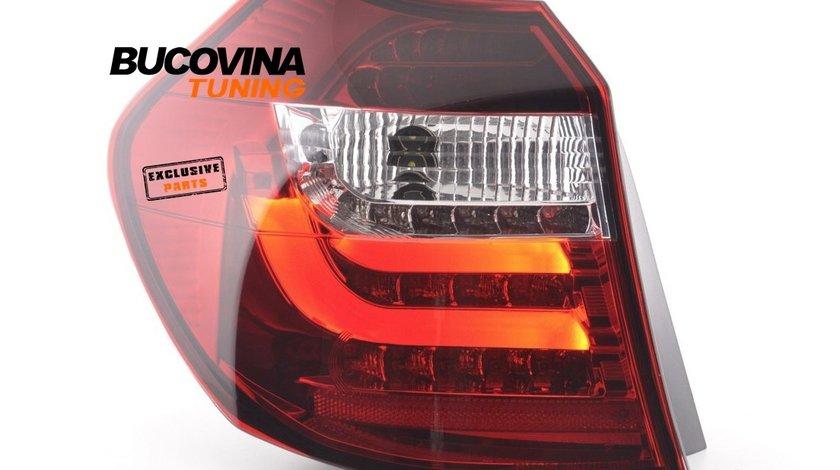 STOPURI LED BMW SERIA 1 E87 E81 HATCHBACK (07-11) - ROSU CRISTAL