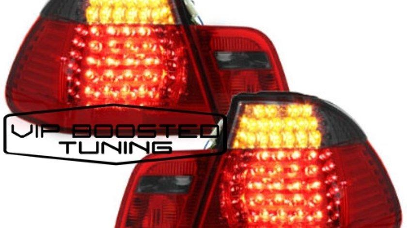 Stopuri LED BMW Seria 3 E46 Limousine (1998-2001) Rosu/Fumuriu 4 Usi