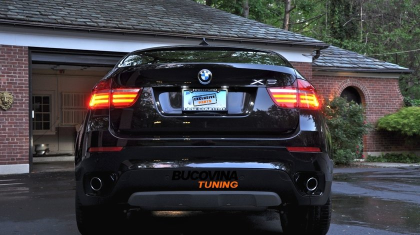 STOPURI LED BMW X6 DUPA 2008 LCI LOOK