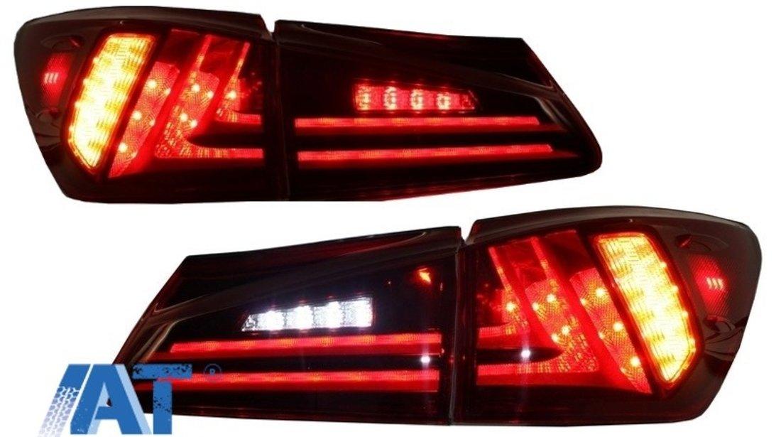 Stopuri LED compatibil cu LEXUS IS XE20 (2006-2012) Light Bar Facelift New XE30 Design Rosu Clar
