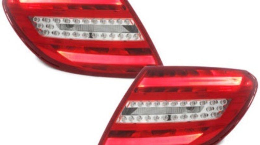 Stopuri LED compatibil cu MERCEDES Benz C-Class W204 2007-2010 Rosu / Clar