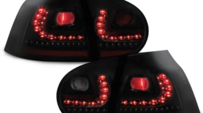 Stopuri LED compatibil cu VW Golf V 03-09 negru/fumuriu