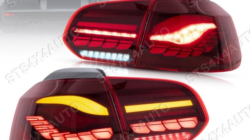 STOPURI LED CU DYNAMIC SEMNALIZARE VW Golf 6 2008-2013 RC [M4 STYLE]