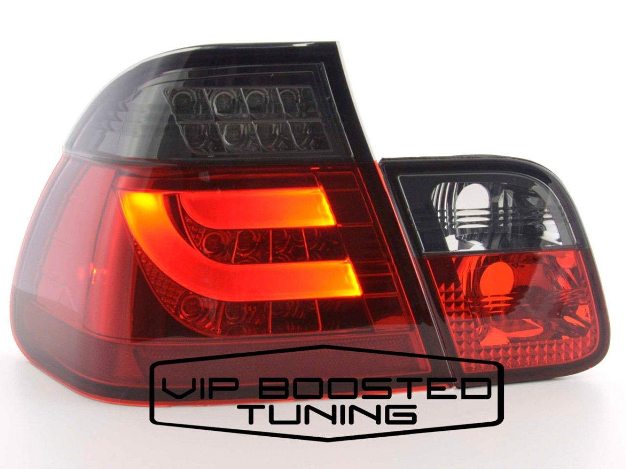 Stopuri LED FIBRA OPTICA BMW Seria 3 E46 FACELIFT (2002-2005) Rosu/Fumuriu 4 Usi
