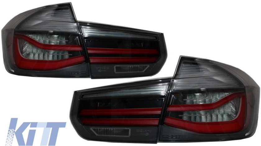 Stopuri LED M Look Black Line BMW Seria 3 F30 (2011-2019) LCI Design cu Semnal Dinamic Secvential KTX2-TLBMF30RS