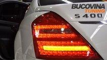 STOPURI LED MERCEDES S CLASS W221 ROSU/CRISTAL