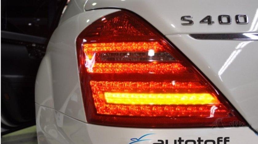 Stopuri LED Mercedes S Class W221 Rosu-Crom
