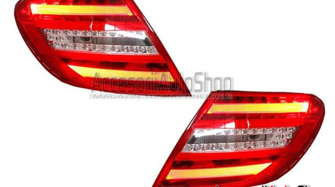 Stopuri LED Mercedes W204 2007-2011 Model FACELIFT - FARA CODARE