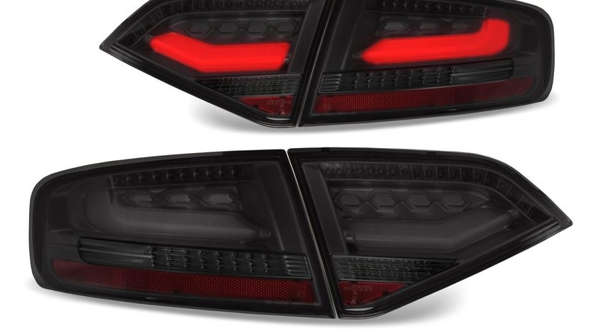 Stopuri LED pentru Audi A4 B8 (8K) model negru
