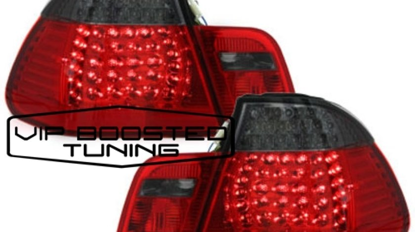 Stopuri LED TUNING BMW Seria 3 E46 (1998-2001) Rosu/Fumuriu 4 Usi