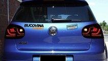 STOPURI LED VW GOLF 5 (04-09) - NEGRU EXTREM DESIG...