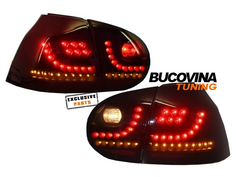 STOPURI LED VW GOLF 5 (04-09) - NEGRU EXTREM DESIGN