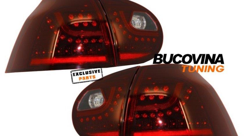STOPURI LED VW GOLF 5 (04-09) - ROSU FUMURIU