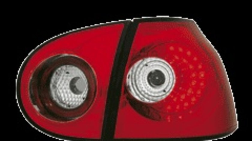 STOPURI LED VW GOLF 5 FUNDAL ROSU-CRISTAL