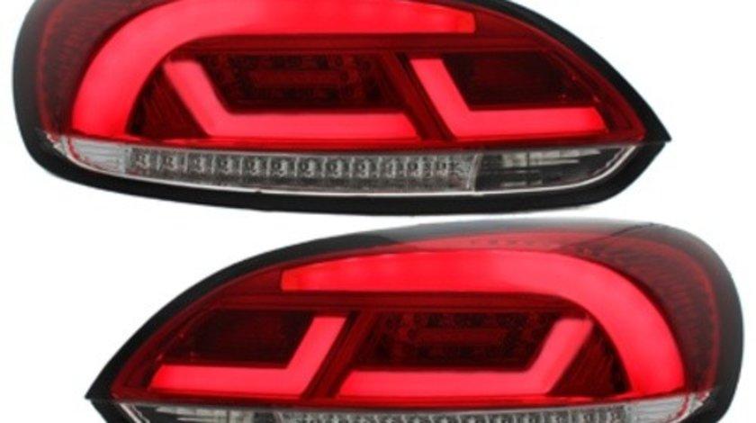 Stopuri Litec LED compatibil cu VW Scirocco III 08-10 rosu / clar