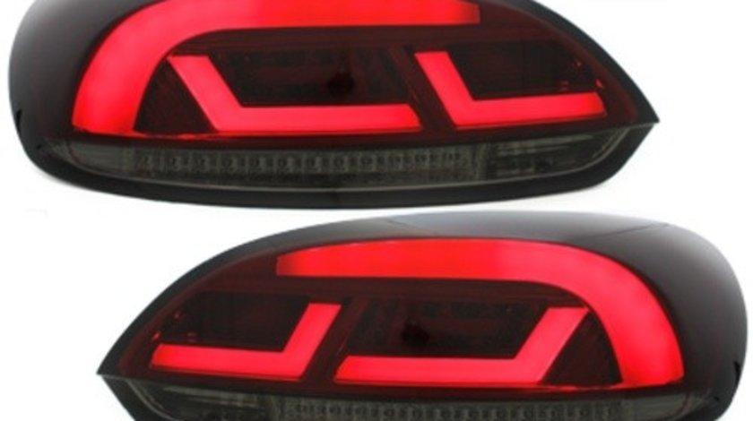 Stopuri Litec LED compatibil cu VW Scirocco III 08-10 rosu / fum