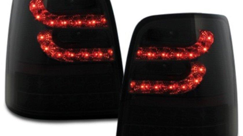 Stopuri LITEC LED compatibil cu VW Touran 2003+ negru/fumuriu