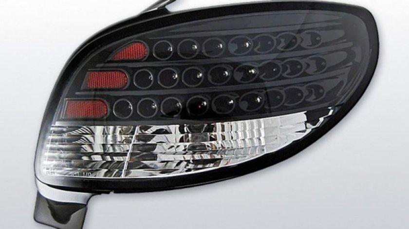 Stopuri Peugeot 206 model Negru pe LED