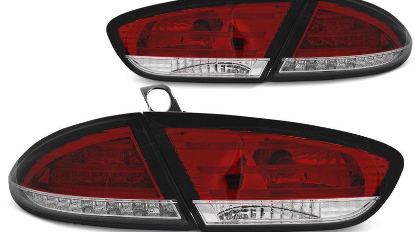 Stopuri Seat Leon 2009-2013 Rosu Alb pe LED