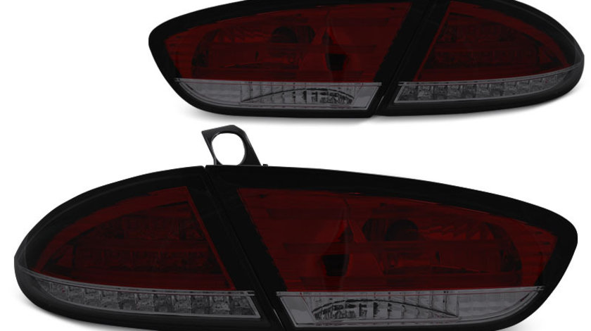 Stopuri Seat Leon 2009-2013 Rosu Fumuriu pe LED