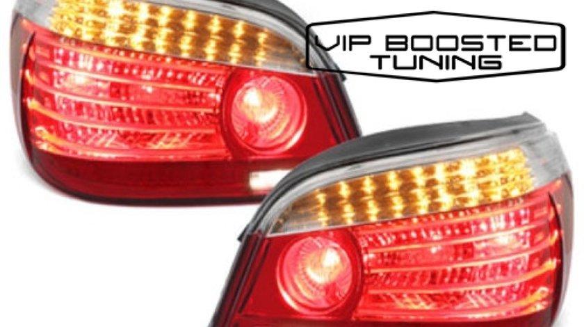 Stopuri TUNING LED BMW E60 2003~2007 Rosu/Clar DEPO LCI Facelift look