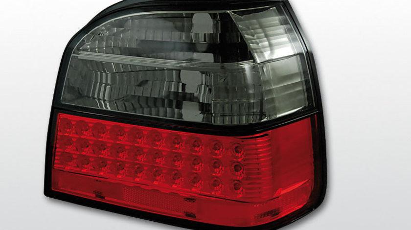 Stopuri VW Golf 3 intre 1991-1997 Rosu Fumuriu pe LED