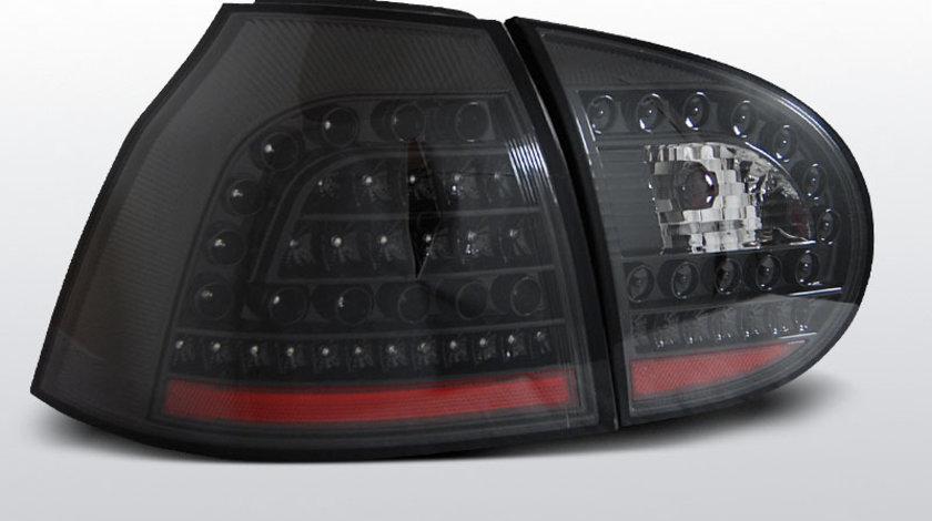 Stopuri VW Golf 5 Hatchback Negru pe LED