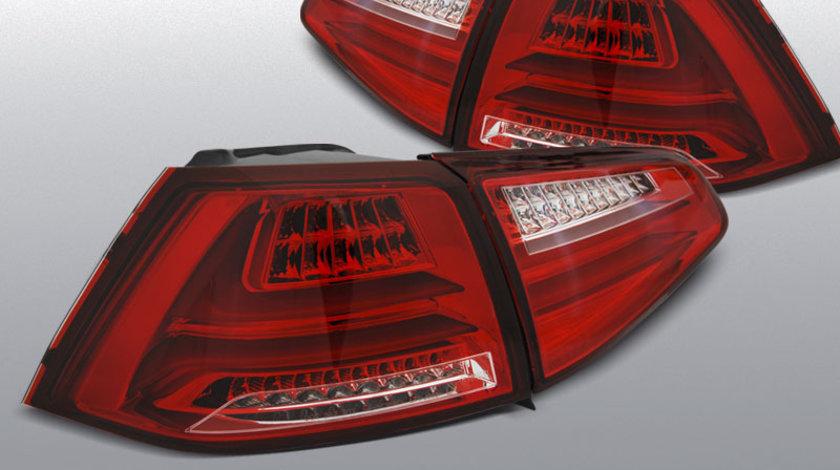 Stopuri VW GOLF 7 13- rosu cu LED BAR