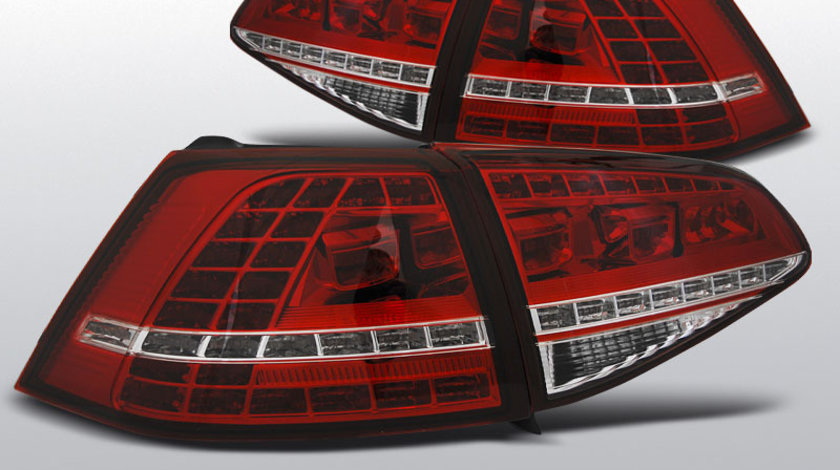 Stopuri VW GOLF 7 2013- rosu alb cu LED GTI-Look Hatchback