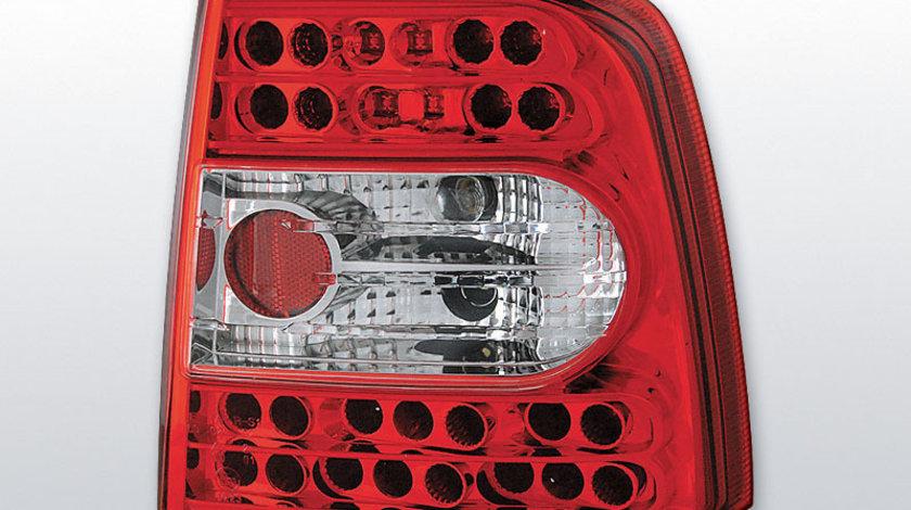 Stopuri VW Passat 3B Sedan Rosu Alb pe LED