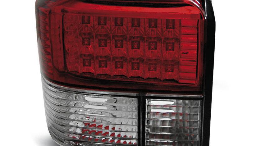 Stopuri VW T4 intre 1990 - 2003 Rosu Alb pe LED
