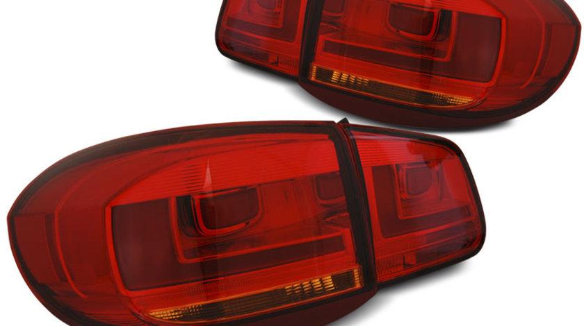 Stopuri VW TIGUAN 2011-2015 Rosu model LED BAR