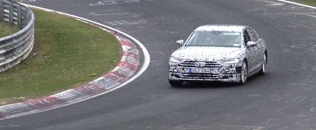 Suna ca un avion la decolare. Noul Audi S8, surprins pentru prima oara in teste