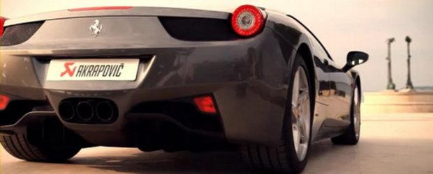 Sunetul Apocalipsei: Ferrari 458 Italia cu evacuare Akrapovic!