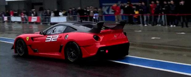 Sunetul Apocalipsei: Noul Ferrari 599XX Evoluzione se dezlantuie la Suzuka!