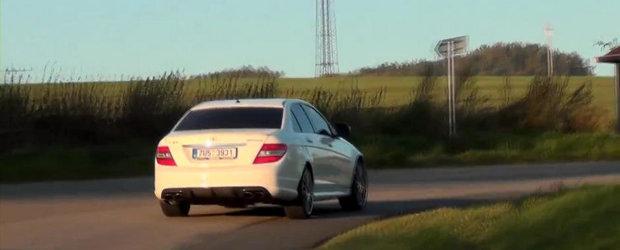 Sunetul Apocalipsei: Un Mercedes C63 AMG de 580 CP terorizeaza strazile din Cehia