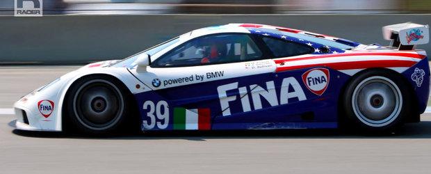 Sunetul motorului V12 iti va face ziua mai buna. Fa o tura a circuitului Laguna Seca la volanul unui McLaren F1 GTR.