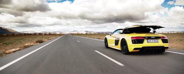 Sunetul pe care il vrei de la masina ta. Noul Audi R8 V10 Spyder il are!