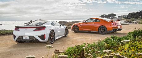 Sunt cele mai tari masini japoneze, dar una-i mai buna. Test comparativ intre Honda NSX si Nissan GT-R