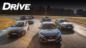 Sunt toate masinile care conteaza aici. Test comparativ intre RS3, A45, Civic Type R, Focus RS si Golf GTI