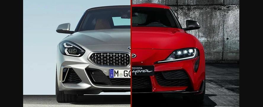Sunt una si aceeasi masina, dar arata complet diferit. Noua Toyota Supra, fata in fata cu BMW Z4