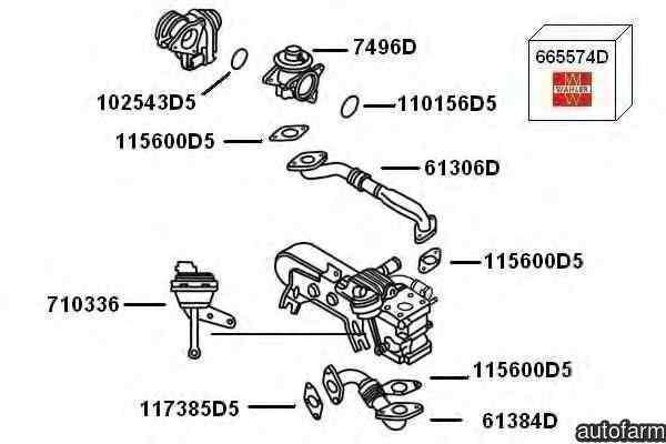 supapa de control vacuum,EGR VW PASSAT (3C2) WAHLER 710336